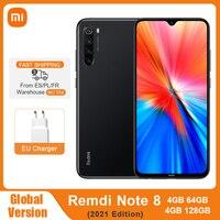 "Global Version Xiaomi Redmi Note 8 (2021) 4GB 64GB / 128GB Mobile Phone Helio G85 Octa Core 6.3"" 48MP Quad Rear Camera 4000mAh 1"
