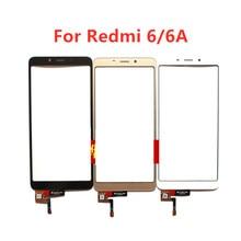Para xiaomi redmi 6/6a sensor de vidro do painel da tela de toque para redmi6 redmi6a lcd painel de vidro exterior peças reposição