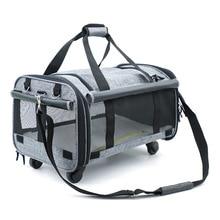 Dog Travel Bag Pulley Pet Bag Mesh Breathable Cat Bag Large Capacity Tugboat Pet Bag Foldable Dog Bag Pet Supplies & Pet недорого