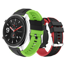 Double Color Silicone Bracelet Wrist Strap for Huawei Watch GT Band Sport Strap for Honor watch Magic/For Amazift Pace/Stratos 2 2s(China)