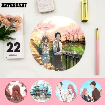 BBTHBDNBY Hot Sales a shape of voice Koe No Katachi round Mouse pad PC Computer mat gaming Mousepad Rug For PC Laptop Notebook image