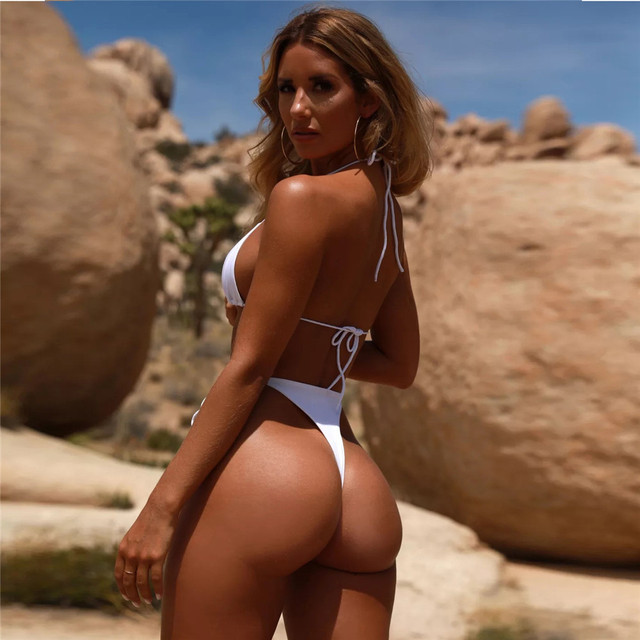 2021 Summer New Bikinis Set Swimming Solid Color Swimsuit Strap Strap Thong Sexy Swimsuit Fashion Women's Wear Hight Waist 5