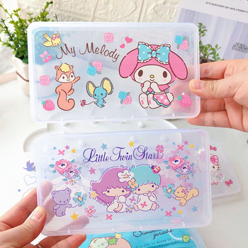 Cute melody Portable Face Masks Organizer Dustproof and Moisture-Proof Cover Holder Mask Storage Seal Box  Accessories