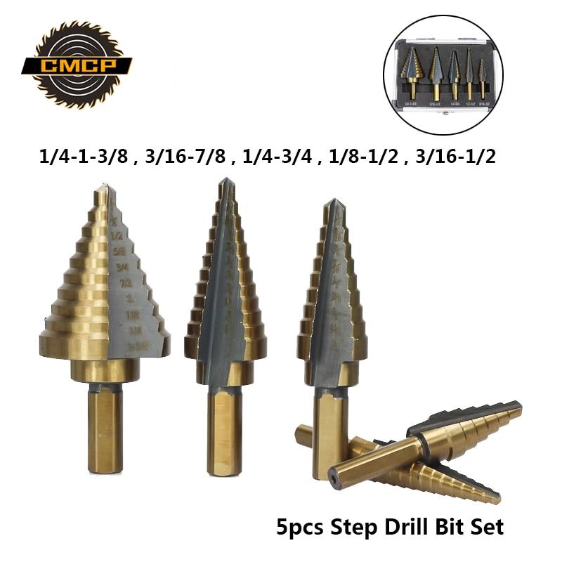 """10-piece 1//2/"""" Round Shank HSS M35 Cobalt Twist Drill Bits for Metal"""