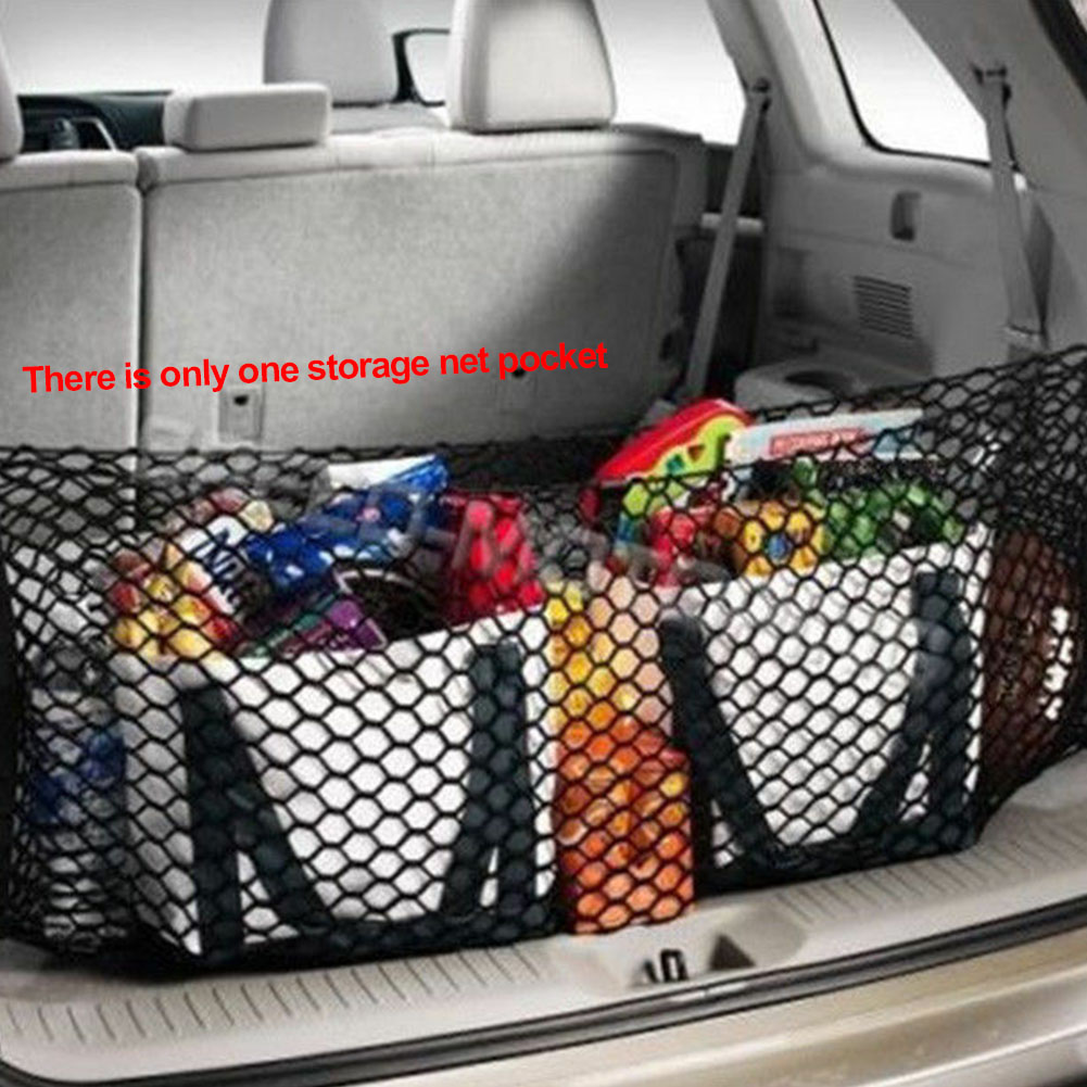 Stretchable Large Capacity Trucks Vertical Universal Equipment Trunk Rear Accessories Car Storage Net Cargo Luggage Elastic Mesh