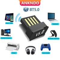 USB Bluetooth Adapters BT 5.0 USB Wireless Computer Adapter Audio Receiver Transmitter Dongles Laptop Earphone BLE Mini Sender 1