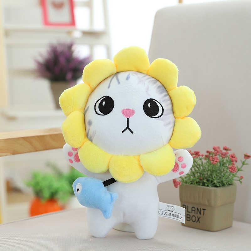 חמוד 3D סימולציה בפלאש חתול צעצוע רך Cartoon בובת פרווה קיטי בובת ספה כרית כרית Kawaii חתולים בפלאש בובות ילדים מתנות