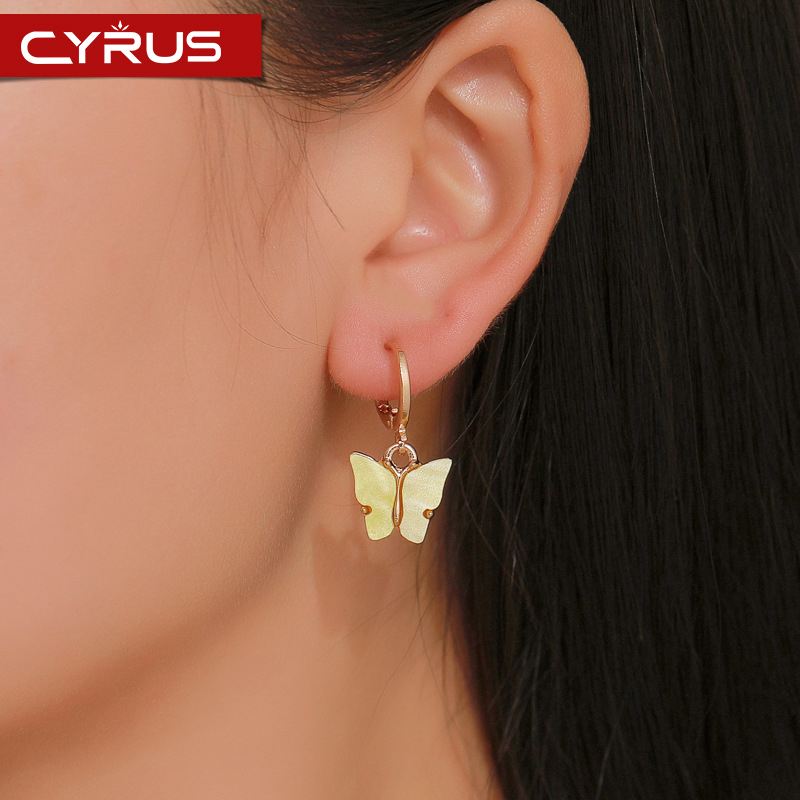 Korean Version Of The New Butterfly Dangle Earrings For Women Fashion Color Acrylic Drop Earrings Luscious Boho Jewelry Mujer