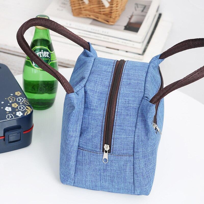 [Zipper] Hand Bento Box Bag Waterproof Diaper Bag WOMEN'S Bag Lunch Bag Lunch Box Bag Small Cloth Bag Handbag