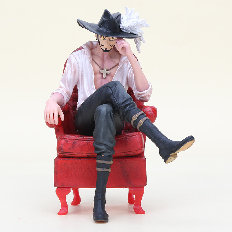 16cm One Piece Creator X Creator Dracule Mihawk Figure Toy One Piece Mihawk With Sofa Chair Action Figure Xmas gift B19