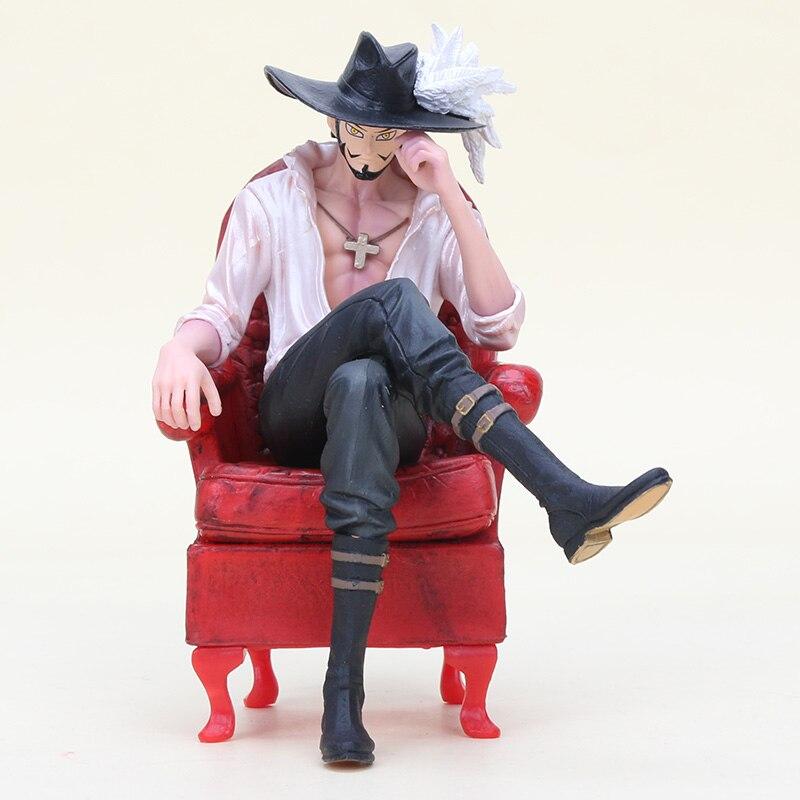 16cm One Piece Creator X Creator Dracule Mihawk Figure Toy One Piece Mihawk With Sofa Chair Action Figure Xmas gift B19