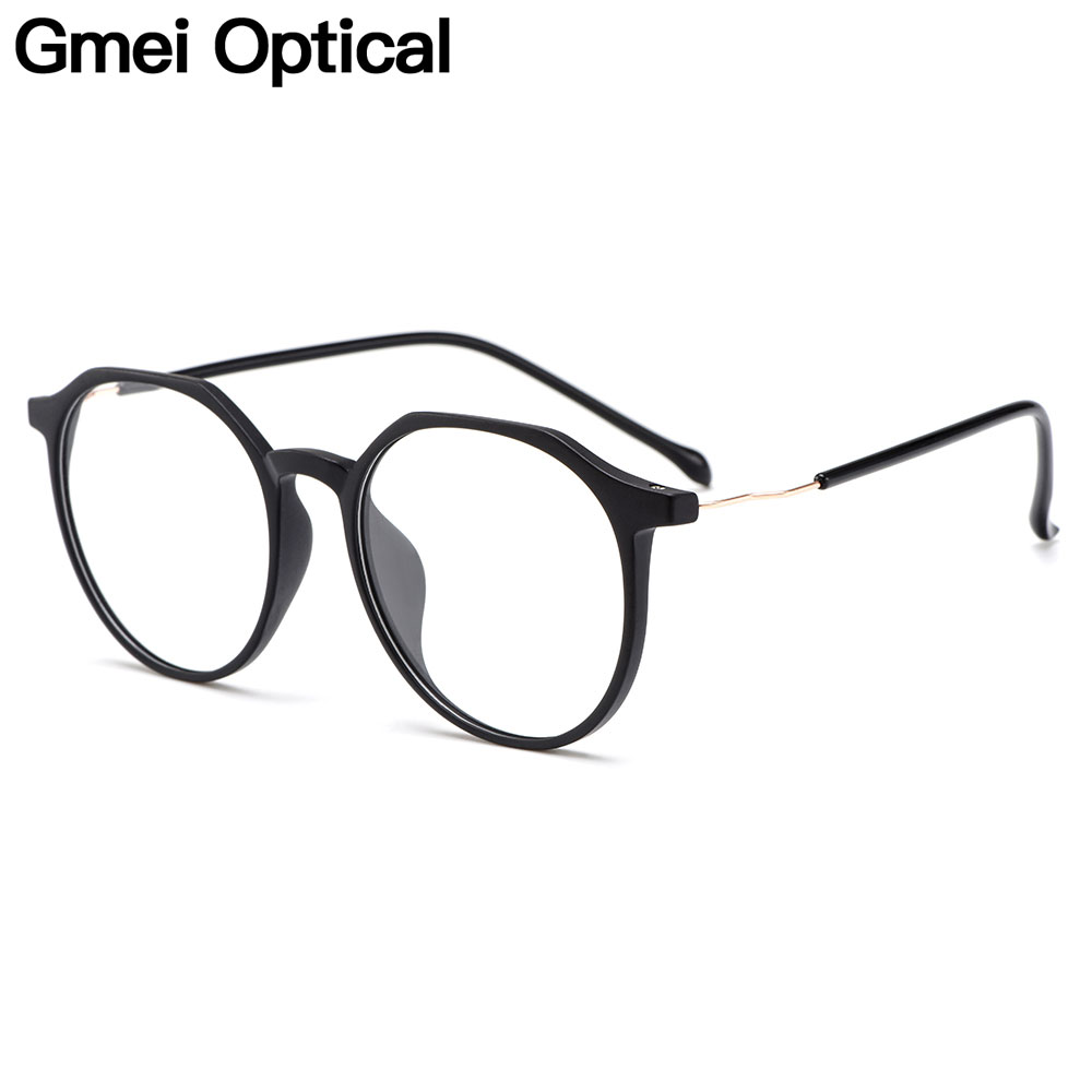 Gmei Optical Stylish Ultralight TR90 Round Women Prescription Glasses Frame For Myopia Optical Spectacles Women Eyewear M3060