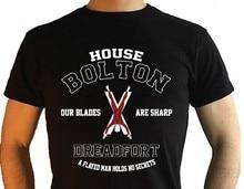Рубашки с короткими рукавами футболки с коротким рукавом Футболка модная мужская круглый вырез горловины дом Болтон футболки