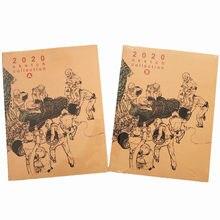 Novo kim jung-gi 2020 esboço coleção livro coréia kim junggi esboço em quadrinhos manuscrito ilustração livro vol. a + b