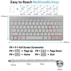 Image 2 - Slim Mini USB Wireless Keyboard Small Computer Wireless Keyboards Compact External Keyboard for Laptop Tablet Windows Desktop PC