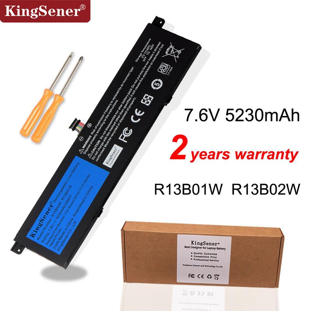 Kingsener 7.6V 5230mAh yeni R13B01W R13B02W Laptop batarya için Xiao mi mi hava 13.3