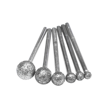 6 Pz/lotto Rotonda Diamante di Rettifica Wheel Per Utensili Dremel Rotary Strumento di Utensili Diamantati Per Granito Del Diamante Frese Utensili Dremel Accessori