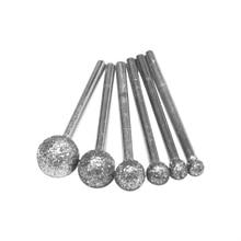 6 sztuk/partia okrągłe diamentowe ściernice do Dremel narzędzia obrotowe narzędzia diamentowe do granitu diamentowe Burs Dremel narzędzia akcesoria