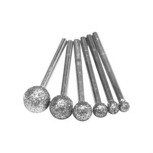 Image 1 - 6 sztuk/partia okrągłe diamentowe ściernice do Dremel narzędzia obrotowe narzędzia diamentowe do granitu diamentowe Burs Dremel narzędzia akcesoria