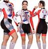 Terno de triathlon profissional, camiseta de ciclismo preta feminina, macacão, manga longa em gel, conjunto de ciclismo, 2019 6