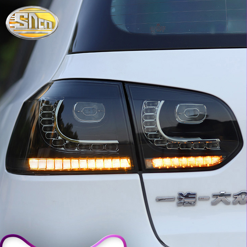 Lámpara antiniebla trasera + luz de freno + marcha atrás + señal de giro dinámica luz LED trasera de coche luz trasera para Volkswagen Golf 6 2009 2013 - 5