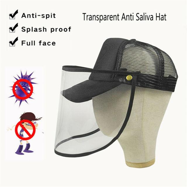 Brand New Transparent Anti Saliva Hat Splash Dust Proof Full Face Shield Anti-fog Anti-Virus Protection Mask 1