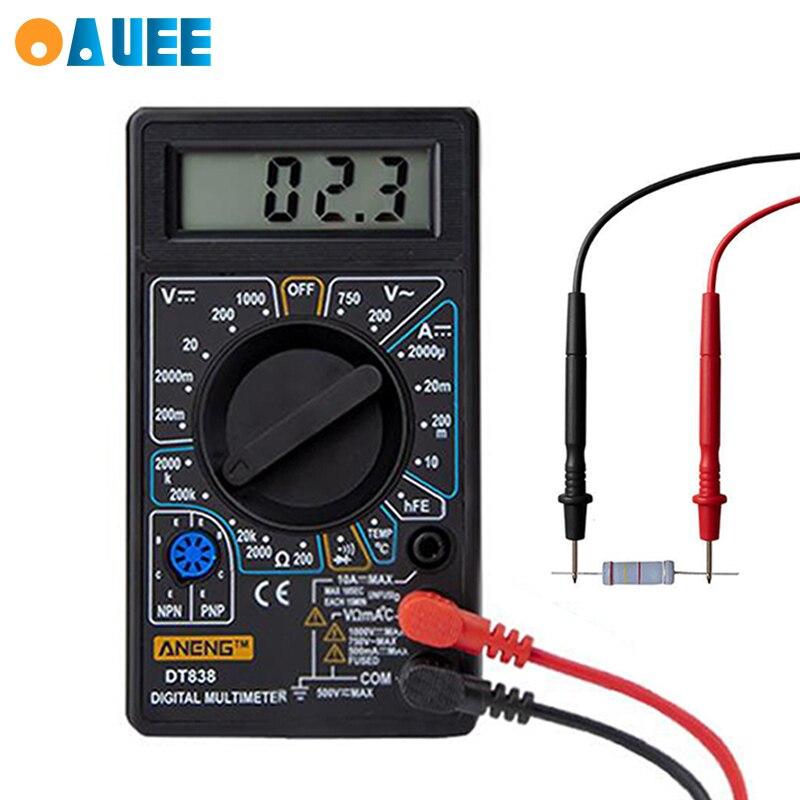 Multimètre numérique LCD cc 750V 1000V Mini multimètre numérique sonde pour voltmètre ampèremètre Ohm testeur mètre