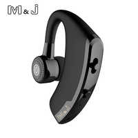V9 Handsfree Business Wireless Bluetooth Headset With Mic Voice Control Headphone For Drive Connect With 2 Phones