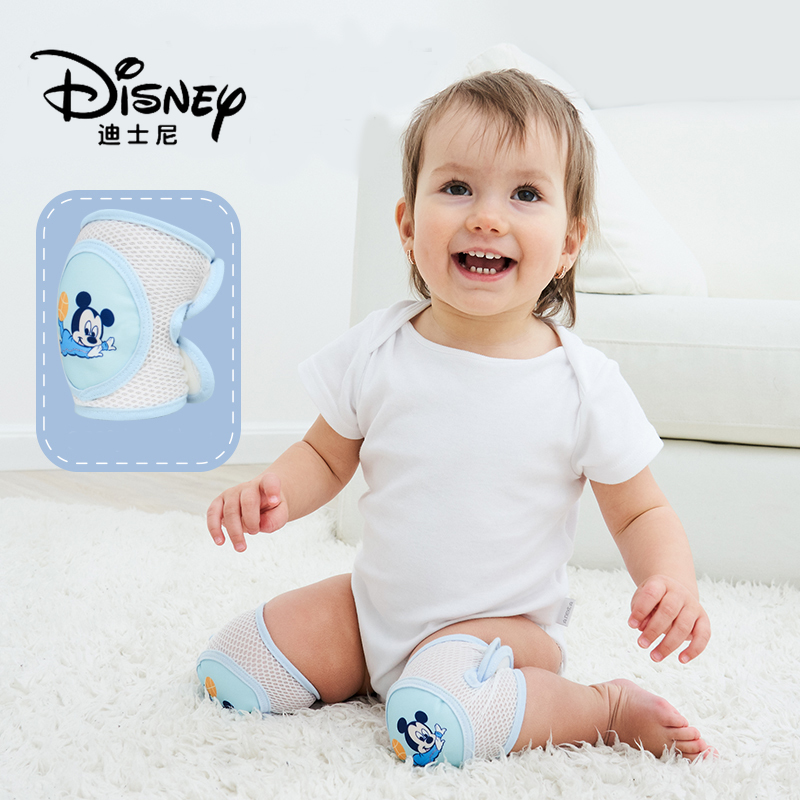 Disney Baby Knee Pads Summer Infants Crawling Toddler Walking Knee Pads Children Summer Sports Anti-fall Elbow Pads 3D