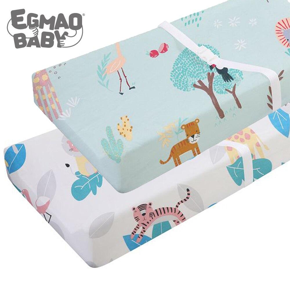Эластичный чехол для пеленального столика-2 шт. в упаковке, эластичный чехол для пеленального столика для мальчиков и девочек, 89*44 см, простыня для кроватки