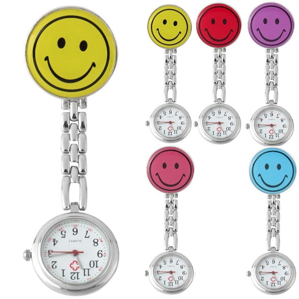 Brooch Pockets Watch Cl-ip-on Nurse Watch With Lapel Hanging Butterfly Pendant Doctor Medical Reloj De Bolsillo Christmas Gifts