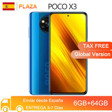 POCO X3 – Smartphone, Version globale, 6 go 64 go/128 go, NFC, 6.67 pouces, Snapdragon 732 Octa Core, 64mp, 5160mAh, Charge 33W, 120Hz, DotDisplay