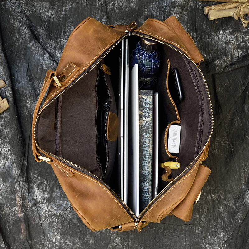 """Had2bfd68228242708d55409557fe24998 MAHEU Men Briefcase Genuine Leather Laptop Bag 15.6"""" PC Doctor Lawyer Computer Bag Cowhide Male Briefcase Cow Leather Men Bag"""