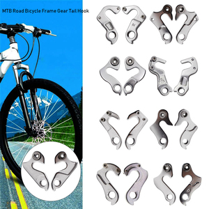 1PC Silver Black Alloy Racing Cycling Rear Derailleur Hanger Outdoor Road Bicycle Hook Parts Frame Gear Tail MTB Bike Accessory