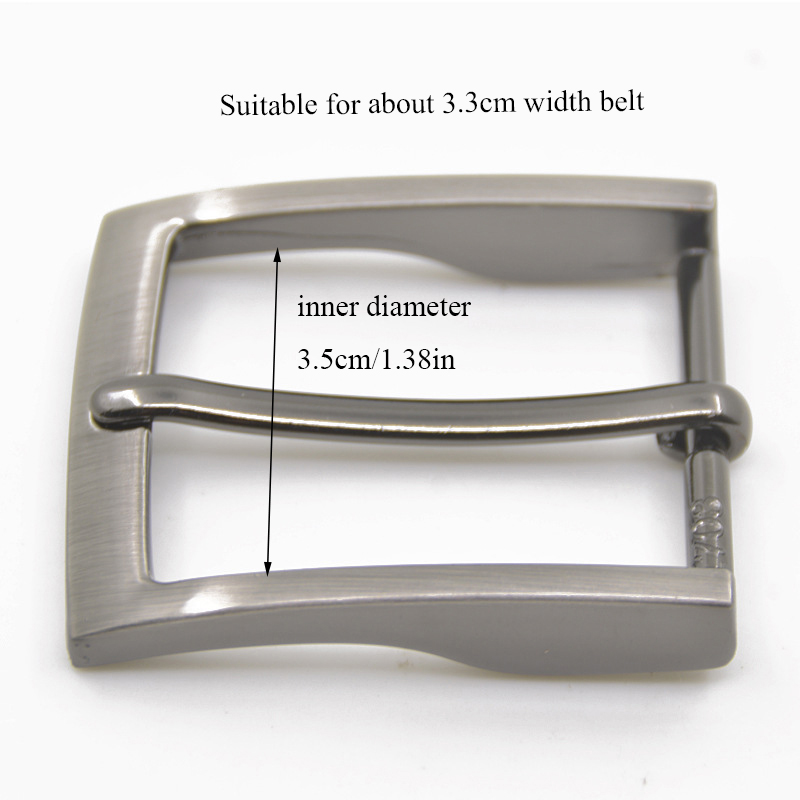 1pc Men Belt Buckle 35mm Metal Pin Buckle Fashion Jeans Waistband Buckles For Belt DIY Leather Craft Accessories Craft Buckle