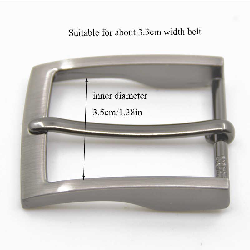 Hebilla de cinturón para hombre, 1 pieza, 35mm, Hebilla de Metal, hebillas para cinturones de vaqueros a la moda, accesorios para cinturón DIY de cuero, accesorios para manualidades hebilla para artesanías