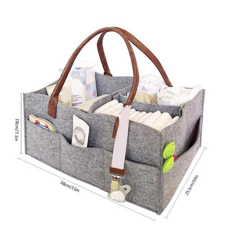 מתקפל הרגיש אחסון תיק מעשי תינוק חיתול Caddy ארגונית רב תאים רכב נסיעות שקיות משתלת סל