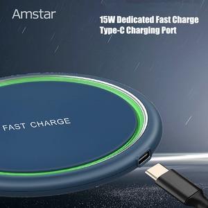 Image 4 - Amstar 15W chargeur sans fil Qi Certification rapide chargeur sans fil pour iPhone 11 Pro XS X XR Samsung S10 S9 Xiaomi 9 Huawei