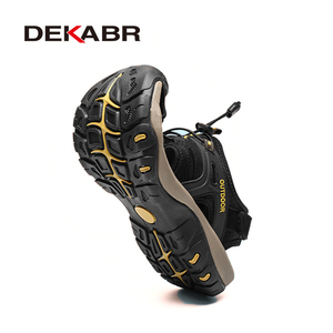 Image 2 - DEKABR New Summer Mens Shoes Outdoor Casual Shoes Sandals Genuine Leather Non slip Sneakers Hihg Quality Men Beach Sandals