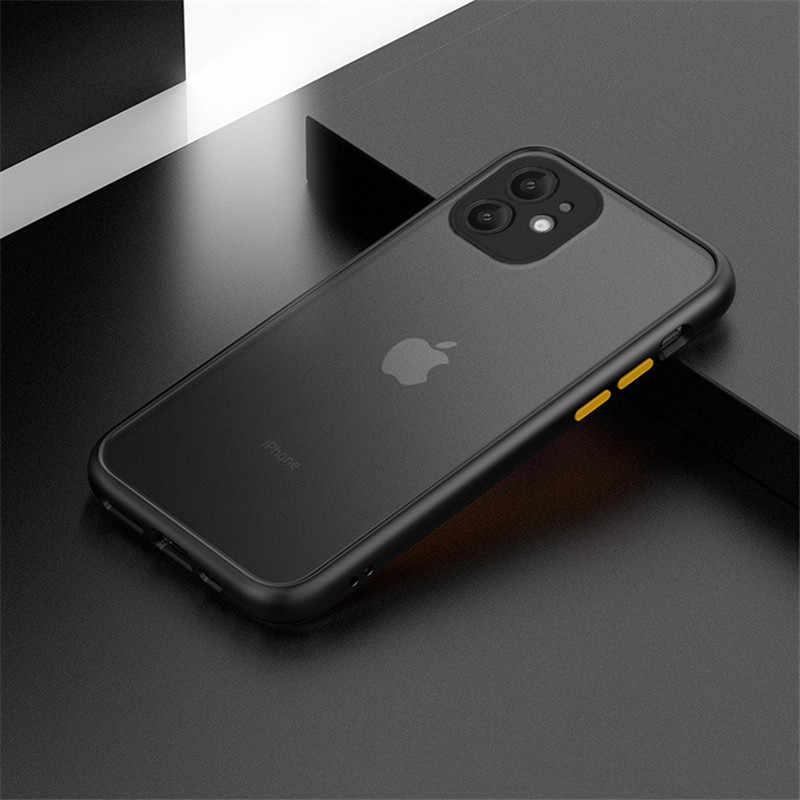 Anti-knock armadura funda para teléfono para iPhone 11 8 7 6 6S Plus funda X XS X Max XR 11 PRO Max mate teléfono estuches funda protectora