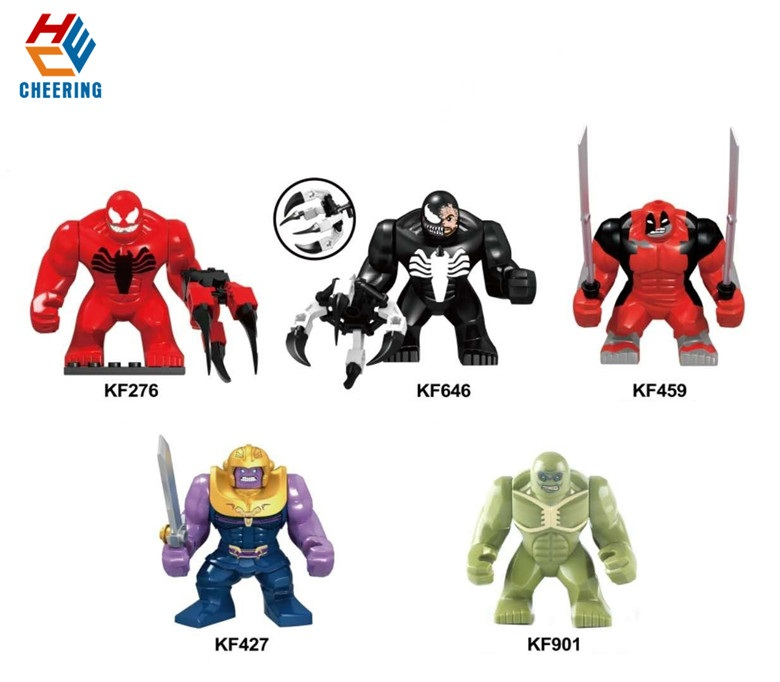 Single Sale Building Blocks Super Heroes Venom Hulkpool Thanos Big Green Hulk Action Bricks Figures Toys For Kids Gift KF6055