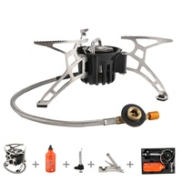 3 pcs/set Powerful Multi fuel Camping Stove Outdoor Propane Oil&Gas Stove Furnace Cooking Picnic Hiking
