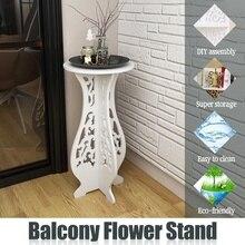 Балконный цветочный пол-стол круглый конец стенд садовое растение для дома украшение марериал wpc легкий прочный 25x25x45 см