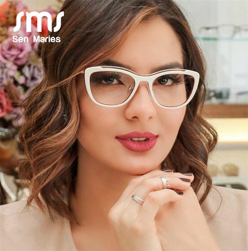 Optical Vintage Cat Eye Eyeglasses Women Full Rim Optical Glasses Frame Female Metal Myopia Presbyopia Eyewear Oculos De Grau