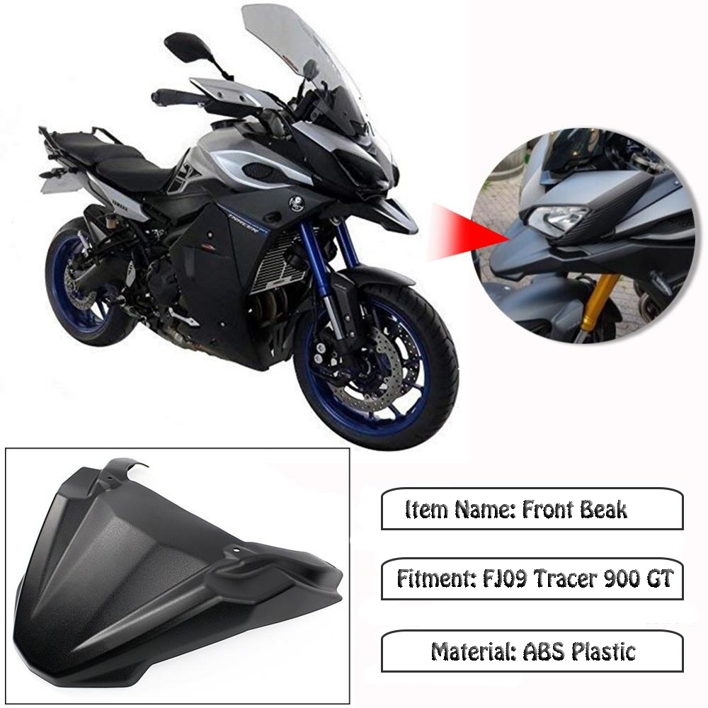 ABS Plastic Black Front Beak Fender Extension For BMW G310 GS Motorbike 2017-18