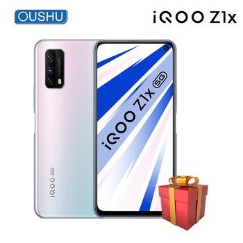 Перейти на Алиэкспресс и купить Новейший IQOO Z1x двойной режим 5G мобильный телефон 5000 мАч большой аккумулятор 33 Вт флэш-зарядка 6,57 ''120 Гц гоночный экран 48MP смартфон 2020