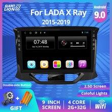 2 Din Android 9,0 Auto Radio Kassette Recorder Für LADA X Ray Xray 2015 - 2019 Auto Multimedia-Player Navigation GPS Dvd Player