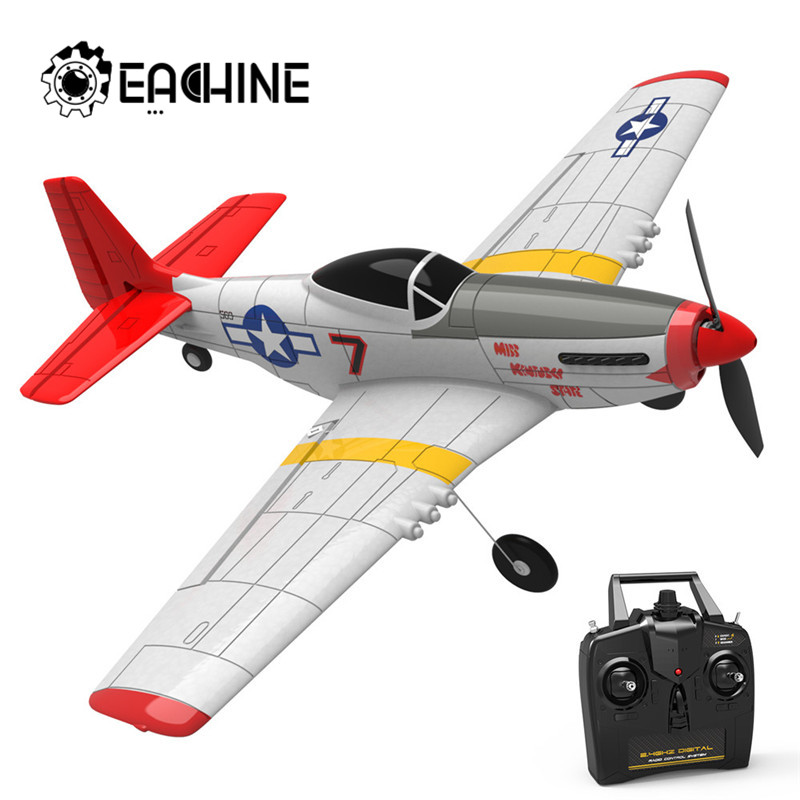 Eachine Mini P-51D EPP 400mm Wingspan 2.4G 6-Axis 14Minutes Flight Time RC Airplane Trainer Fixed Wing RTF Aircraft for Beginner(China)