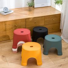 Adult plastic stool kindergarten thickened stool household bathroom children #8217 s Non Slip round stool row stool #23 cheap NoEnName_Null CN(Origin)