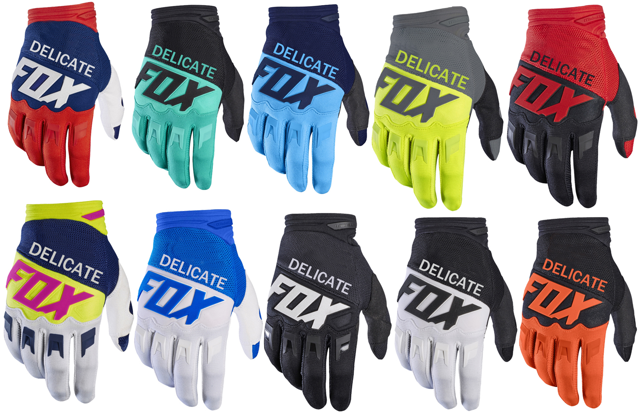 Dirtpaw Racing Glove Locomotive Delicate Fox Motorsport MTB Bike Motorcycle Gloves
